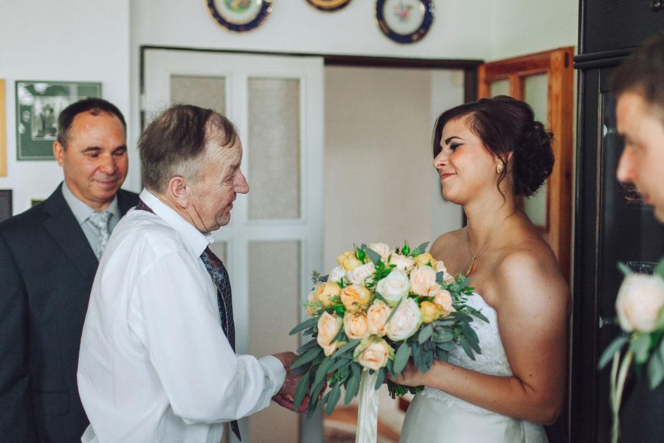 Předávání nevěsty ženichovi