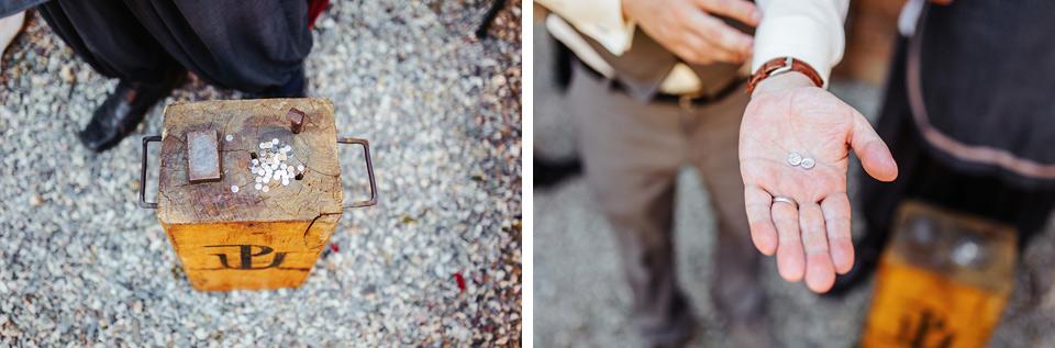Ražba svatebních mincí na Křelově