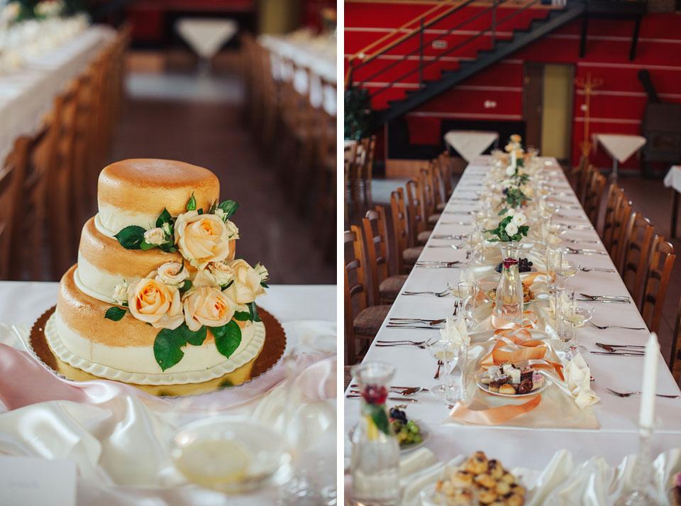 Svatební dort a svatební tabule