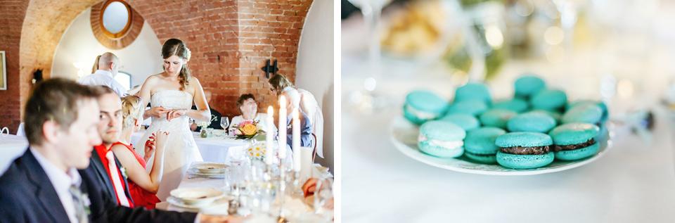 Svatební hostina a makronky