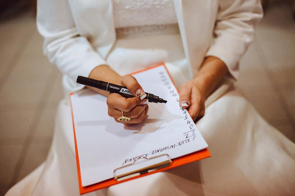 Svatební kvíz na svatbě