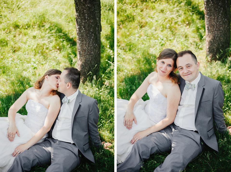 Svatební pohoda pod stromem