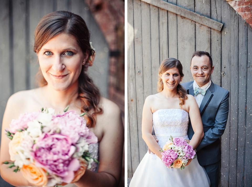 Svatební portrét nevěsty a ženicha