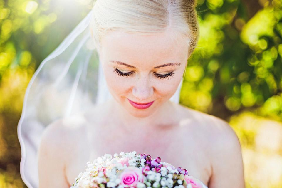 Svatební portrét nevěsty