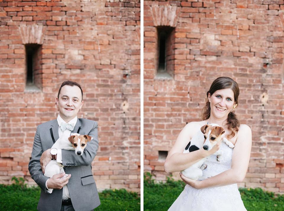 Svatební portréty s hafanem