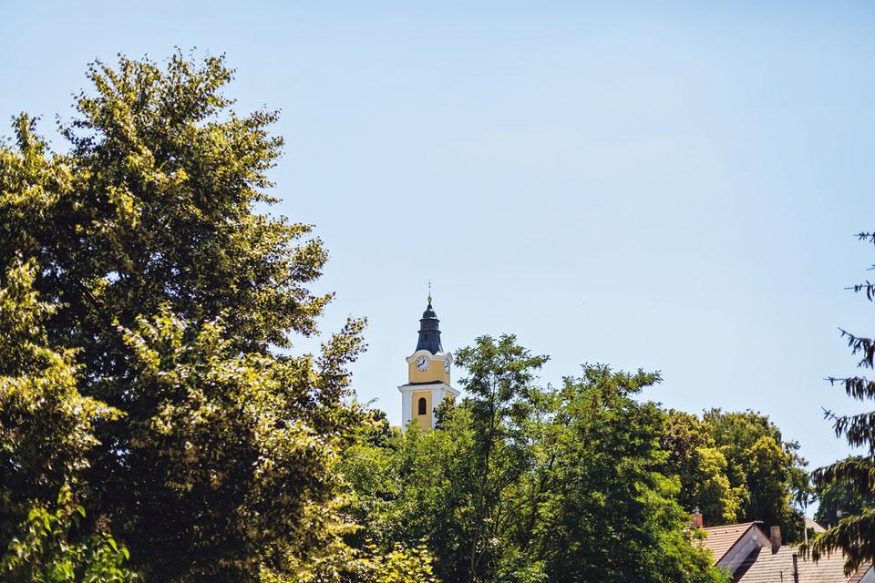 Věž kostelíku v mutěnicích