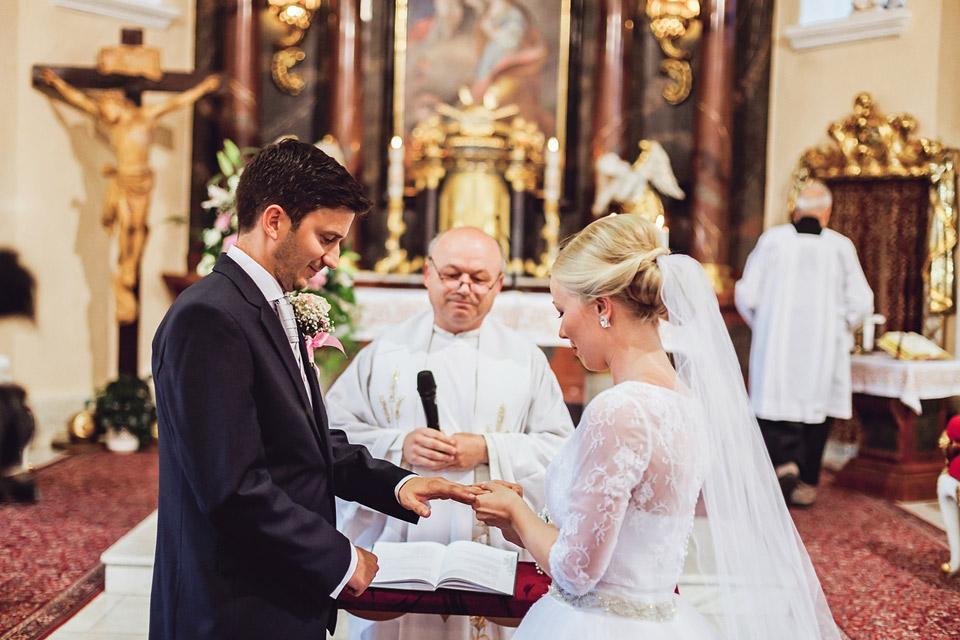 Výměna svatebních prstýnků